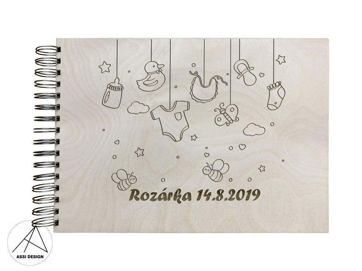 Dřevěné fotoalbum Hračky