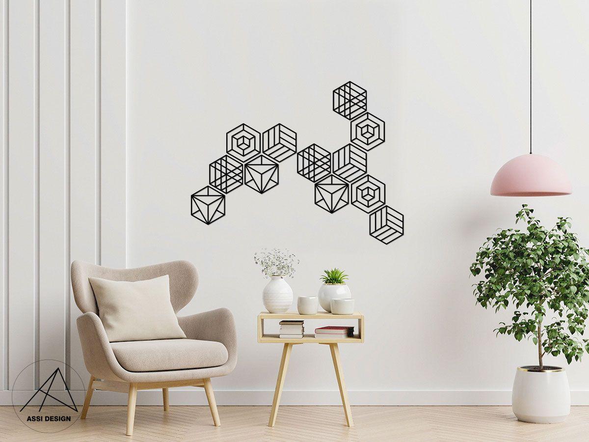 Hexagon dřevěné tvary 12ks