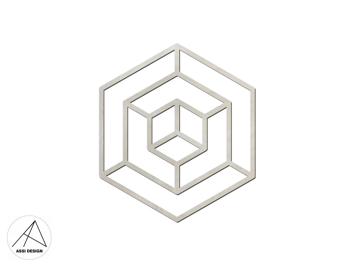 Hexagon dřevěné tvary