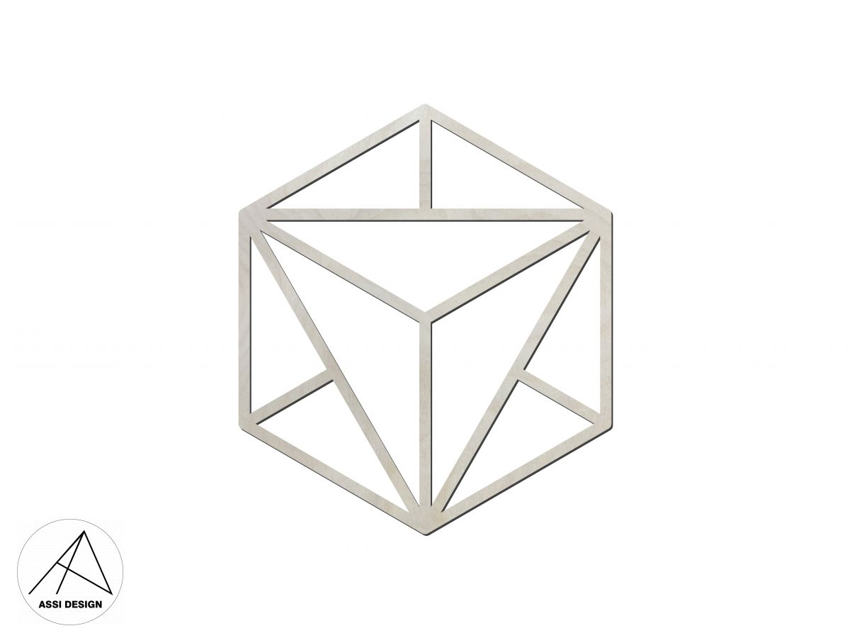 Hexagon dřevěné tvary 1ks