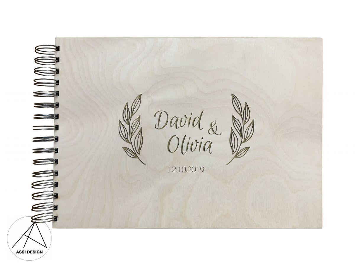 Dřevěné fotoalbum Oliva