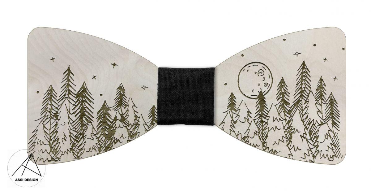 Dřevěný motýlek Les