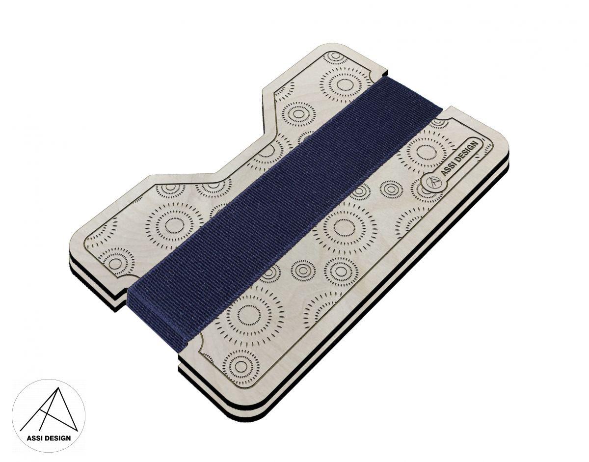 Mini peněženka Kruhy