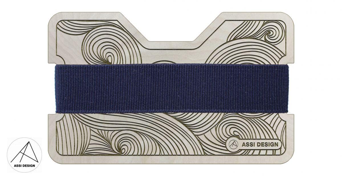 Mini peněženka Vlny