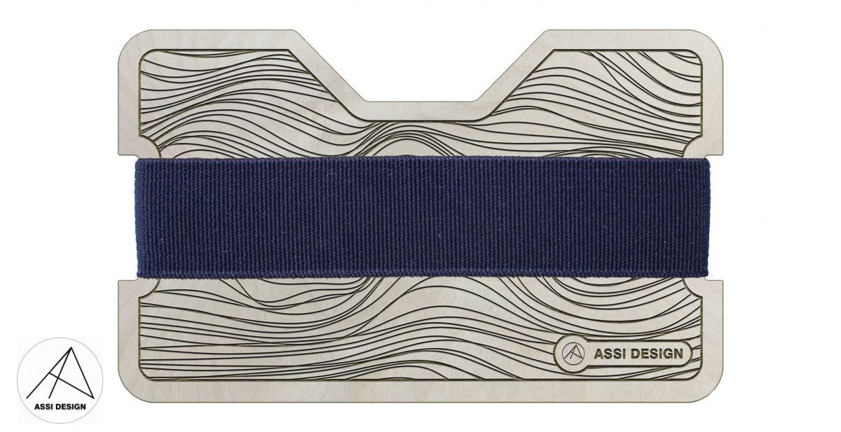 Mini peněženka Křivky