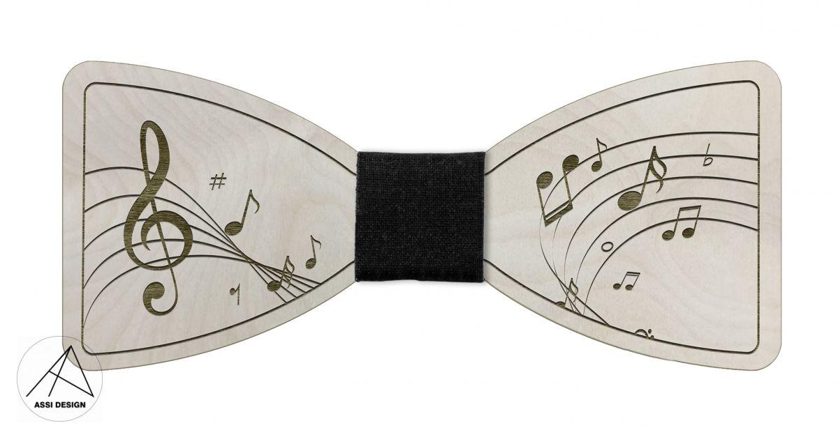 Dřevěný motýlek Hudba