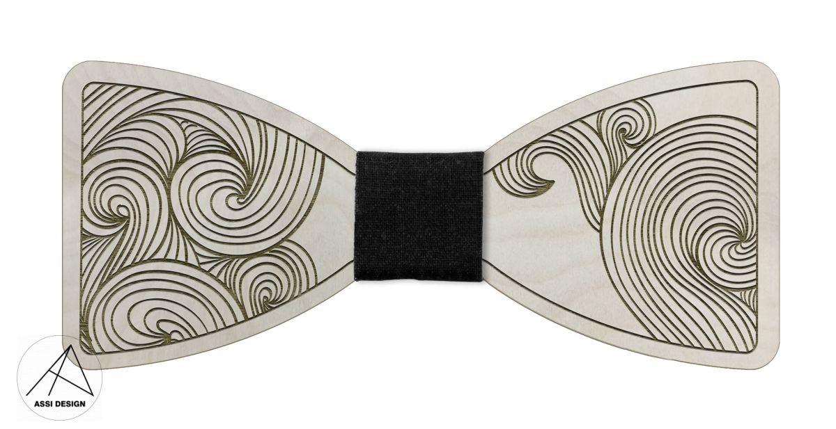 Dřevěný motýlek Vlny