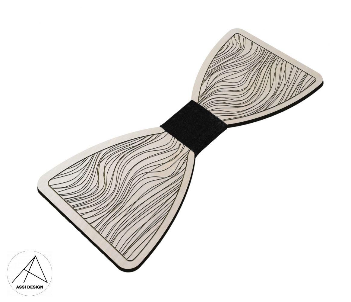Dřevěný motýlek Křivky